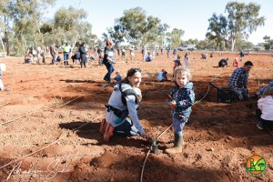 Tree planting day 2019 - Julianne and Taz and bub
